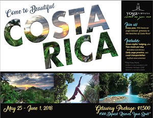 Small image of the flier advertising YNS's Costa Rica retreat.